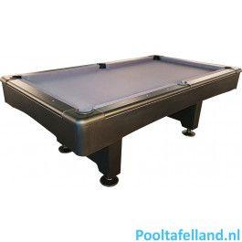 TopTable Pooltafel Break Matte Black 7FT