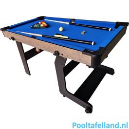 TopTable Pooltafel Fun Fold-Up Wood 5ft, Opklapbaar