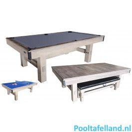 TopTable Pooltafel Dinner Wood 8FT
