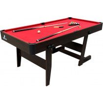 Cougar Pooltafel Hustle XL hout / rood 6ft opklapbaar