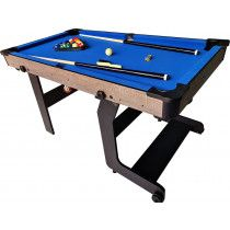 TopTable Pooltafel Fun Fold-Up Wood 5ft, Opklapbaar